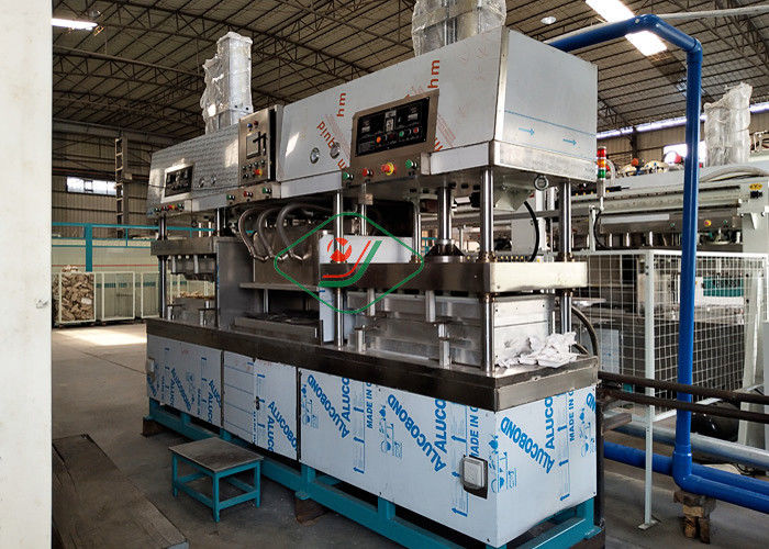 Tableware / Dishware Bagasse Fiber Pulp Molding Machine Semi Automatic