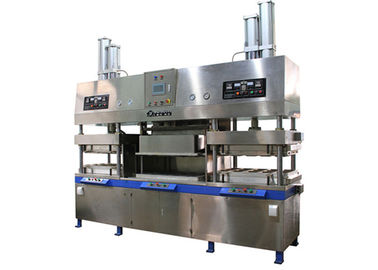 Semi Automatic Paper Pulp Molded Paper Plate Making Machine for Food Container 700 Pcs / Hour